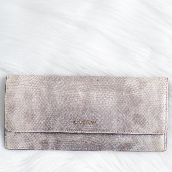 Coach Handbags - Coach snakeskin wallet